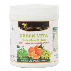 ved Ji Green Vita Nutrition Drink Orange flavor 150gr